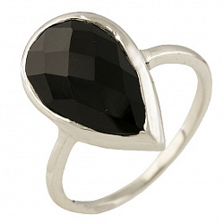 Серебряное кольцо Чара с черным ониксом