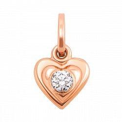 Золотой кулон Мое сердце 000012056
