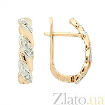 Золотые серьги с бриллиантами Тереса ZMX--ED-6732_K