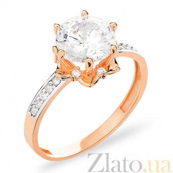 Золотое кольцо с фианитами Даффодил SUF--153148