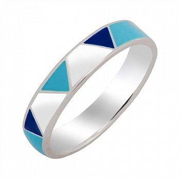 Серебряное кольцо с эмалью 000150142