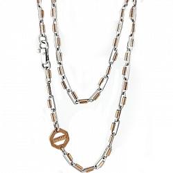 Золотая цепь Baraka Джиффард из красного и белого золота с бриллиантом 000033508