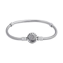 Серебряный браслет для шармов в стиле Пандора с фианитами 000127677