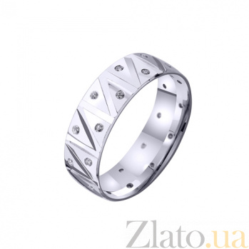 Золотое обручальное кольцо My sweet life с фианитами TRF--4221077
