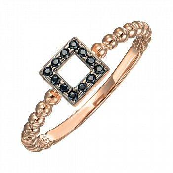 Кольцо из красного золота с фианитами 000150329