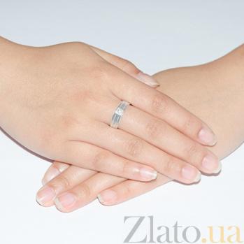 Обручальное кольцо Моя верность с бриллиантом TRF--4221164н