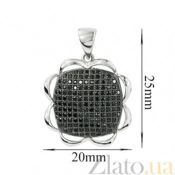 Серебрянный подвес с фианитами Подсолнух 3П543-0028