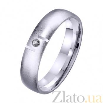 Золотое обручальное кольцо Сердечный союз TRF--422331