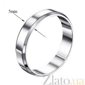 Обручальное кольцо Вечная любвоь из белого золота 000000312