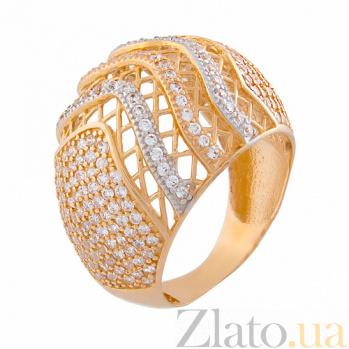 Золотое кольцо с цирконием Оттенки роскоши 15022/3