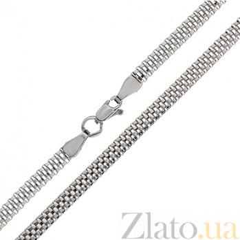 Серебряная цепочка Гарлингтон фантазийного плетения TNG--800510С