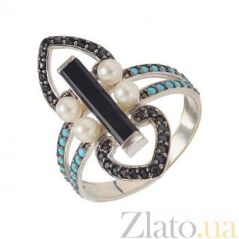 Серебряное кольцо Ночное рандеву Доминика TNG--369550С