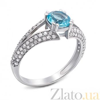 Серебряное кольцо Юлиана с голубым кварцем 1744/9р гол.кварц