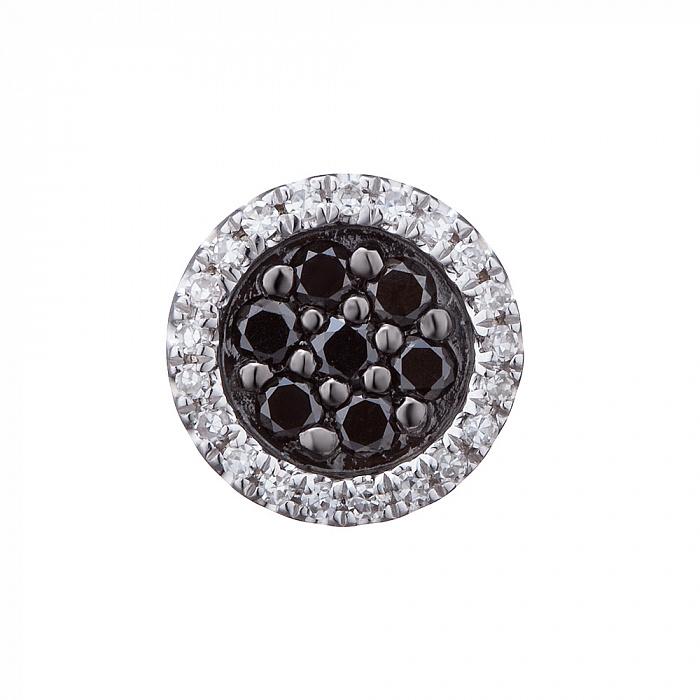 Кулон из белого золота Новые впечатления с черными и белыми бриллиантами 000079415