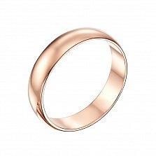 Обручальное кольцо Вечная любовь в красном золоте