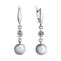 Серебряные серьги-подвески Миранда с цирконием
