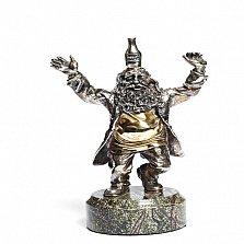 Серебряная статуэтка с позолотой Весельчак