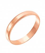 Обручальное кольцо в красном золоте Счастливый союз