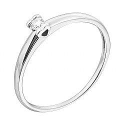 Золотое кольцо Нежность с бриллиантом