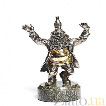 Серебряная статуэтка с позолотой Весельчак 1031