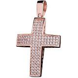 Крест из красного золота Святосвет с цирконием