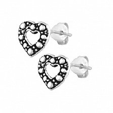 Серебряные сережки With Love
