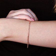 Золотой браслет Love, диам. 3мм