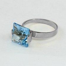 Кольцо из белого золота Ирма с топазом