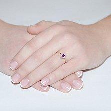 Золотое кольцо с аметистом Очарование
