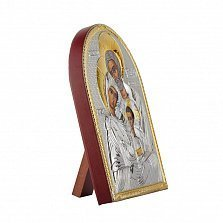 Икона Святое Семейство на деревянной основе, 10,6х8,2см