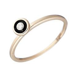 Золотое кольцо с бриллиантом Грета