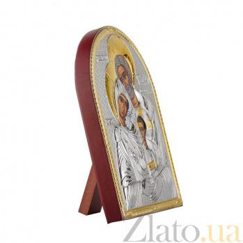 Икона Святое Семейство на деревянной основе, 10,6х8,2см 000061929