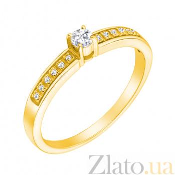 Кольцо из жёлтого золота с бриллиантами Хлоя 000021459