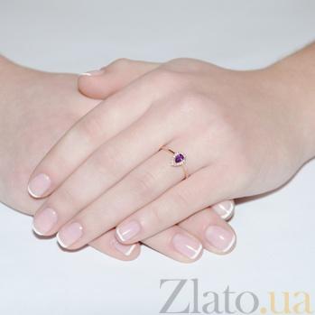 Золотое кольцо с аметистом Очарование EDM--КД4031амет