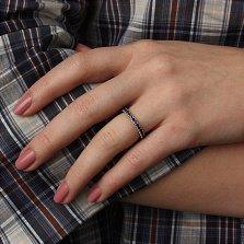 Серебряное кольцо с сапфирами Каприз