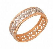 Золотое обручальное кольцо Прекрасная леди