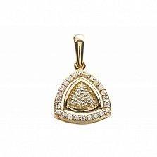 Золотой кулон Баронесса с бриллиантами