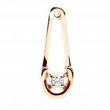 Золотой подвес с бриллиантом Булавка
