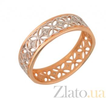 Золотое обручальное кольцо Прекрасная леди VLT--нн1253