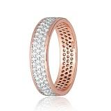 Позолоченное серебряное кольцо с фианитами Лорен