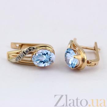 Серьги из золота с топазами и фианитами Айла VLN--113-708-1