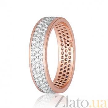 Позолоченное серебряное кольцо с фианитами Лорен 000028401