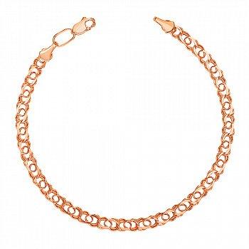Золотой браслет плетения бисмарк 000101636