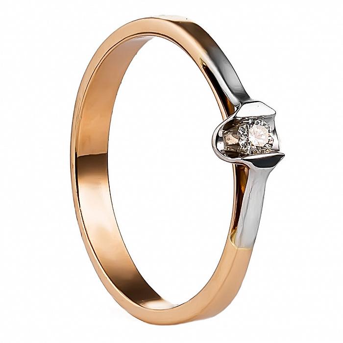 Золотое кольцо с бриллиантом Джекет 000030106