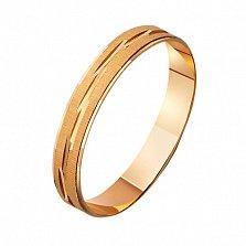 Золотое обручальное кольцо Таинство брака