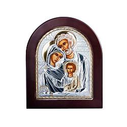 Серебряная икона в дереве Святое семейство