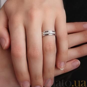Кольцо обручальное Преданность с бриллиантами R 0299/ бел