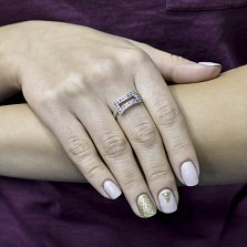 Серебряное кольцо Мелани с аметистом