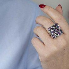 Серебряное кольцо Магия цвета с фианитами