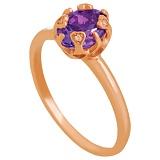Золотое кольцо Моник с александритом и фианитами